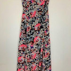 Ninie Womens Multicolor Sweetheart Maxi Dress